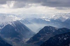 2 doliny widok Zdjęcie Royalty Free