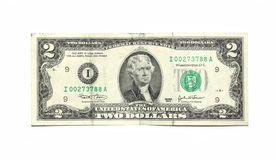 2 dollari Fotografia Stock Libera da Diritti
