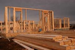 2 dom konstrukcyjne Zdjęcie Royalty Free