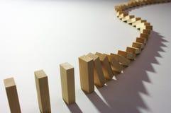 2 domino skutek Obraz Stock
