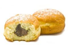 2 donuts с шоколадом Стоковые Фото