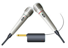 2 draadloze microfoons Royalty-vrije Stock Fotografie