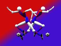 2 drużyny piłkarskiej obj. Zdjęcia Royalty Free