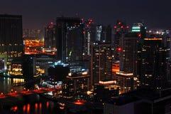 2 Dubai noc scena Zdjęcie Royalty Free