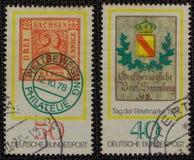 2 Duitse postzegels vanaf 1978 Stock Afbeelding