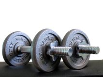 2 dumbbells 5x2 kg dwa obraz royalty free