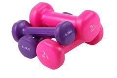 2 dumbbells free hand weights Στοκ Φωτογραφία