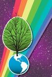 2 dzień ziemski drzewo Zdjęcia Stock