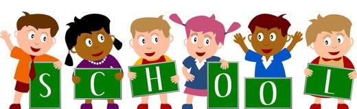 2 dzieci do szkoły Obraz Stock