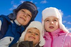 2 dzieciak się zima Obrazy Royalty Free