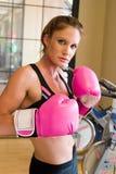 2 dziewczyn boksu rękawiczek różowe Zdjęcia Royalty Free