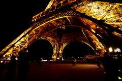 2 Eiffel noc wierza Zdjęcia Stock