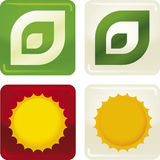 2 ekologisymboler Arkivfoto