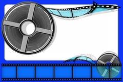 2 ekranowy film Zdjęcia Stock