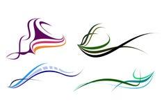2 elegansformer Arkivbild