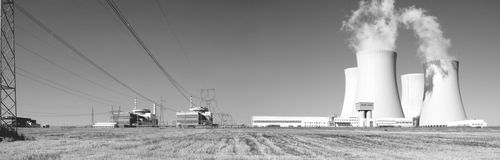 2 elektrownia atomowa Fotografia Royalty Free