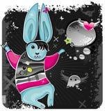 2 emo兔子 库存照片