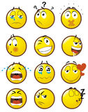 2 emoticons Arkivfoto