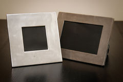 2 empty picture frames Royalty Free Stock Photos