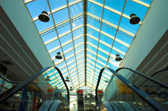2 escalators. Two escalators in the mall Royalty Free Stock Images