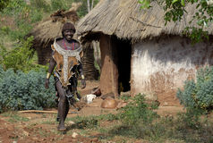 2 ethiopia folk Arkivfoton