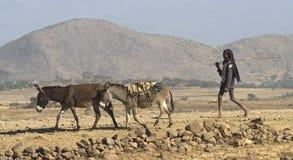 2 ethiopian folk Arkivbild