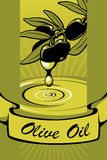 2 etiketter oil olivgrön Royaltyfri Foto