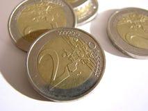 2 euro. Coins royalty free stock photos