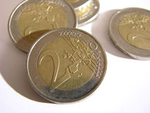 2 euro royalty-vrije stock foto's