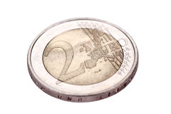 2 euro coin isolated on white Stock Photography