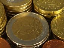 2 euro e centesimo Immagini Stock Libere da Diritti