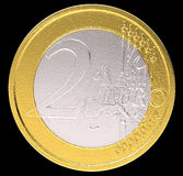 2 Euro: EU currency coin Stock Photos
