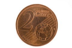 2 eurocent Стоковая Фотография