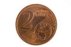 2 eurocent Στοκ Φωτογραφία