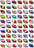 2 Europa flaggor Royaltyfria Bilder