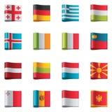 2 Europa flaggor part vektorn Royaltyfri Fotografi