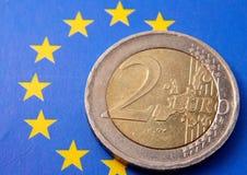 2 euros royaltyfri foto