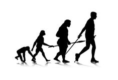 2 ewoluci istota ludzka Obraz Royalty Free