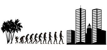 2 ewolucji człowieka Obraz Royalty Free