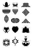 2.Examples voor emblemen stock illustratie
