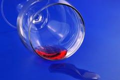 2 exponeringsglas spilld wine Fotografering för Bildbyråer