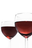 2 exponeringsglas wine Royaltyfri Bild