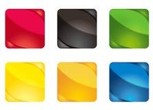 2 färgade knappar vektor illustrationer