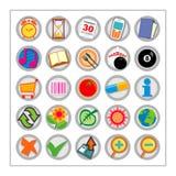 2 färgade symbolen set version1 Arkivfoton