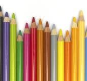2 färgblyertspennor Arkivfoton