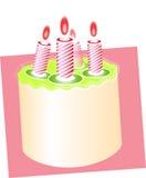 2 födelsedag cake Arkivfoton