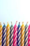 2 födelsedagstearinljus Arkivfoto