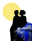2 förälskad kyss två Royaltyfri Fotografi