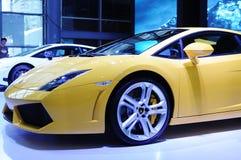 2 för gallardolamborghini för 550 coupe yellow för lp Arkivfoto