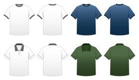 2 för serieskjorta t för män s mallar royaltyfria bilder